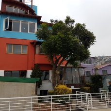 The four-story home of poet Pablo Neruda.