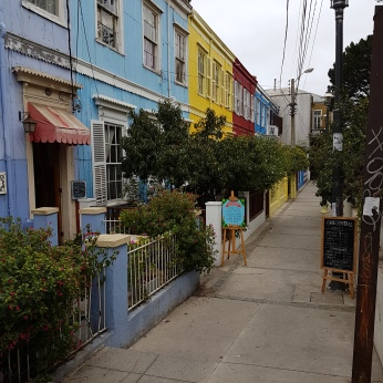 On a walking tour of the artsy Concepción district of Valparaiso.