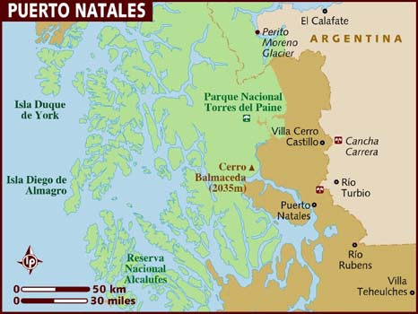 Map Puerto Natales