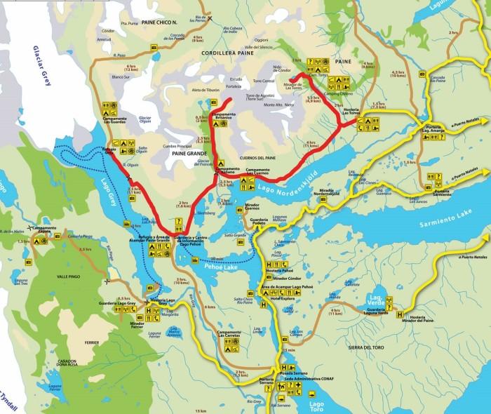Map Torres del Paine (2)